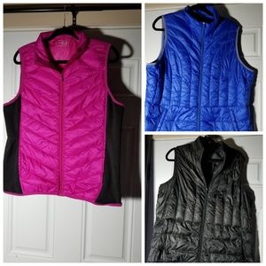 Lot of 3 Be Inspired down vests 1x